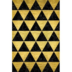 Triangle3 Black Marble & Gold Brushed Metal 5 5  X 8 5  Notebook