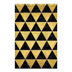 Triangle3 Black Marble & Gold Brushed Metal Shower Curtain 48  X 72  (small)