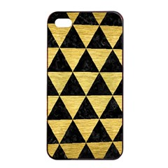 Triangle3 Black Marble & Gold Brushed Metal Apple Iphone 4/4s Seamless Case (black)