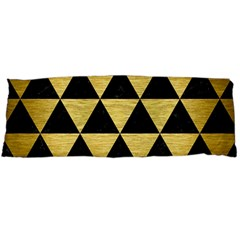 Triangle3 Black Marble & Gold Brushed Metal Body Pillow Case Dakimakura (two Sides)