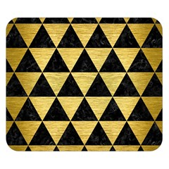 Triangle3 Black Marble & Gold Brushed Metal Double Sided Flano Blanket (small)