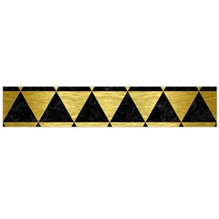 Triangle3 Black Marble & Gold Brushed Metal Flano Scarf (large)