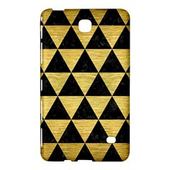Triangle3 Black Marble & Gold Brushed Metal Samsung Galaxy Tab 4 (7 ) Hardshell Case