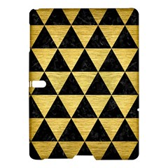 Triangle3 Black Marble & Gold Brushed Metal Samsung Galaxy Tab S (10 5 ) Hardshell Case