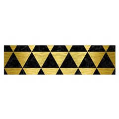 Triangle3 Black Marble & Gold Brushed Metal Satin Scarf (oblong)