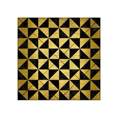 Triangle1 Black Marble & Gold Brushed Metal Acrylic Tangram Puzzle (4  X 4 )