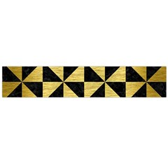 Triangle1 Black Marble & Gold Brushed Metal Flano Scarf (large)