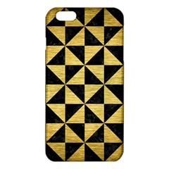 Triangle1 Black Marble & Gold Brushed Metal Iphone 6 Plus/6s Plus Tpu Case