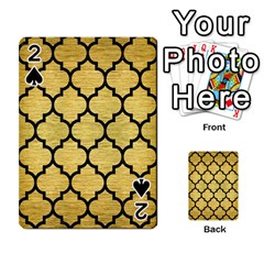 Tile1 Black Marble & Gold Brushed Metal (r) Playing Cards 54 Designs