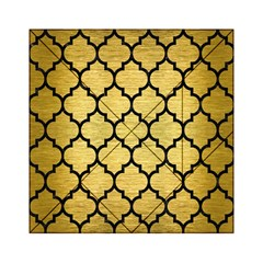 Tile1 Black Marble & Gold Brushed Metal (r) Acrylic Tangram Puzzle (6  X 6 )