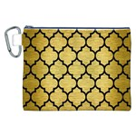 TILE1 BLACK MARBLE & GOLD BRUSHED METAL (R) Canvas Cosmetic Bag (XXL) Front