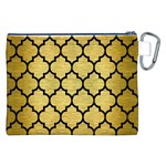 TILE1 BLACK MARBLE & GOLD BRUSHED METAL (R) Canvas Cosmetic Bag (XXL) Back