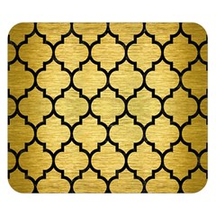 Tile1 Black Marble & Gold Brushed Metal (r) Double Sided Flano Blanket (small)
