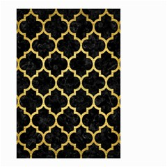 Tile1 Black Marble & Gold Brushed Metal Small Garden Flag (two Sides)