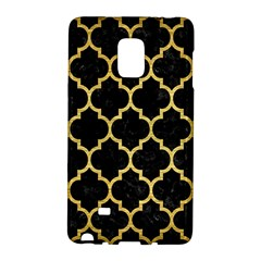 Tile1 Black Marble & Gold Brushed Metal Samsung Galaxy Note Edge Hardshell Case