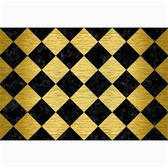 Square2 Black Marble & Gold Brushed Metal Collage 12  X 18