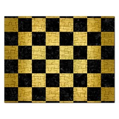 Square1 Black Marble & Gold Brushed Metal Jigsaw Puzzle (rectangular)