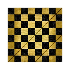 Square1 Black Marble & Gold Brushed Metal Acrylic Tangram Puzzle (6  X 6 )