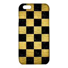 SQR1 BK MARBLE GOLD iPhone 6/6S TPU Case