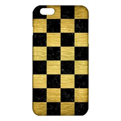 Square1 Black Marble & Gold Brushed Metal Iphone 6 Plus/6s Plus Tpu Case