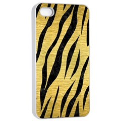 Skin3 Black Marble & Gold Brushed Metal (r) Apple Iphone 4/4s Seamless Case (white)