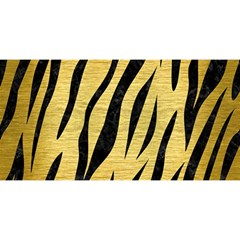 Skin3 Black Marble & Gold Brushed Metal (r) You Are Invited 3d Greeting Card (8x4)