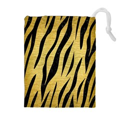 SKN3 BK MARBLE GOLD (R) Drawstring Pouches (Extra Large)