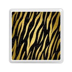 Skin3 Black Marble & Gold Brushed Metal Memory Card Reader (square)