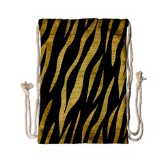 Skin3 Black Marble & Gold Brushed Metal Drawstring Bag (small)