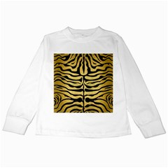 Skin2 Black Marble & Gold Brushed Metal (r) Kids Long Sleeve T Shirt