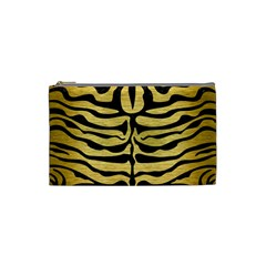 Skin2 Black Marble & Gold Brushed Metal (r) Cosmetic Bag (small)