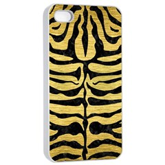 Skin2 Black Marble & Gold Brushed Metal (r) Apple Iphone 4/4s Seamless Case (white)
