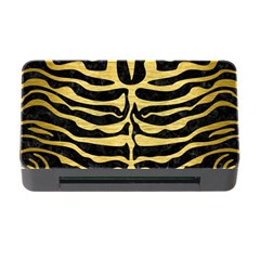 Skin2 Black Marble & Gold Brushed Metal Memory Card Reader With Cf