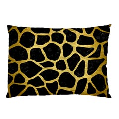 Skin1 Black Marble & Gold Brushed Metal (r) Pillow Case (two Sides)