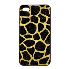 Skin1 Black Marble & Gold Brushed Metal (r) Apple Iphone 4/4s Seamless Case (black)