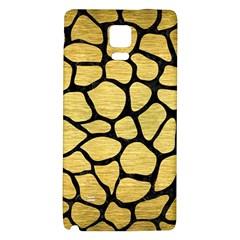 Skin1 Black Marble & Gold Brushed Metal Samsung Note 4 Hardshell Back Case