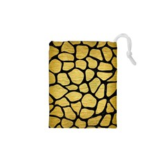 SKN1 BK MARBLE GOLD Drawstring Pouches (XS)