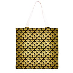 SCA3 BK MARBLE GOLD (R) Grocery Light Tote Bag