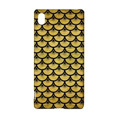 Scales3 Black Marble & Gold Brushed Metal (r) Sony Xperia Z3+ Hardshell Case