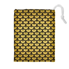 SCA3 BK MARBLE GOLD (R) Drawstring Pouches (Extra Large)