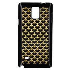 Scales3 Black Marble & Gold Brushed Metal Samsung Galaxy Note 4 Case (black)