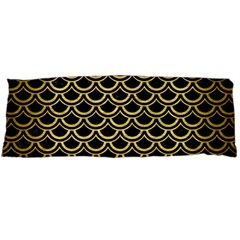 Scales2 Black Marble & Gold Brushed Metal Body Pillow Case Dakimakura (two Sides)