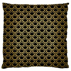 Scales2 Black Marble & Gold Brushed Metal Standard Flano Cushion Case (one Side)