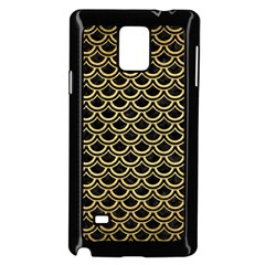 Scales2 Black Marble & Gold Brushed Metal Samsung Galaxy Note 4 Case (black)