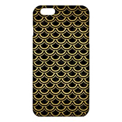 Scales2 Black Marble & Gold Brushed Metal Iphone 6 Plus/6s Plus Tpu Case