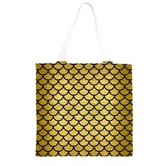 SCA1 BK MARBLE GOLD (R) Grocery Light Tote Bag