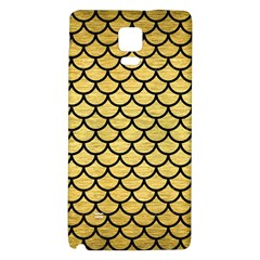 Scales1 Black Marble & Gold Brushed Metal (r) Samsung Note 4 Hardshell Back Case