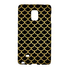 Scales1 Black Marble & Gold Brushed Metal Samsung Galaxy Note Edge Hardshell Case