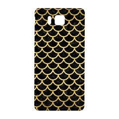 Scales1 Black Marble & Gold Brushed Metal Samsung Galaxy Alpha Hardshell Back Case