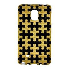 Puzzle1 Black Marble & Gold Brushed Metal Samsung Galaxy Note Edge Hardshell Case